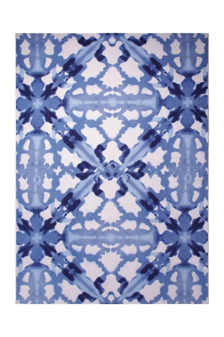 Tapis moderne de salon bleu Blue Abstract par Esprit Home