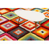 Tapis géométrique design multicolore Remix Kelim Wecon Home