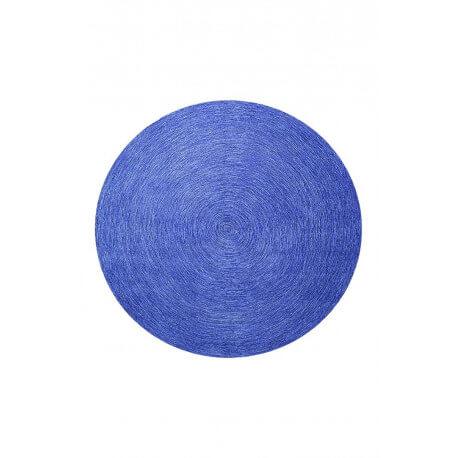 tapis rond uni bleu colour in motion par esprit home. Black Bedroom Furniture Sets. Home Design Ideas
