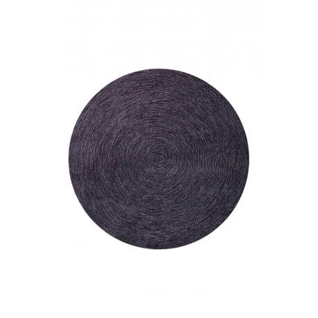 Tapis rond uni prune Colour In Motion par Esprit Home