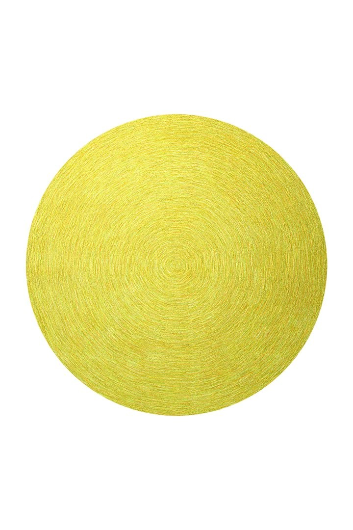 Tapis rond uni jaune Colour In Motion par Esprit Home