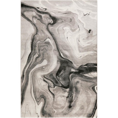 Tapis moderne gris abstrait Voyage Wecon Home