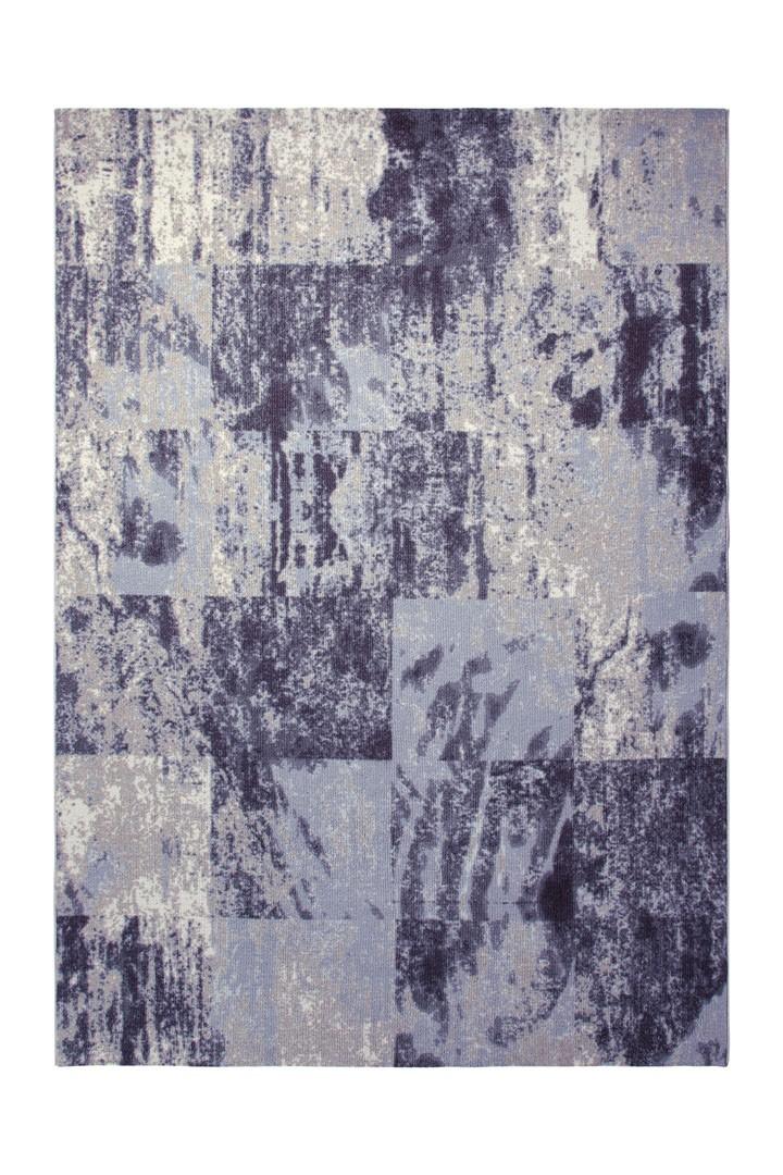 Tapis vintage d'intérieur bleu Retro Stage par Esprit Home