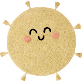 Tapis rond enfant jaune You're My Sunshine Lorena Canals