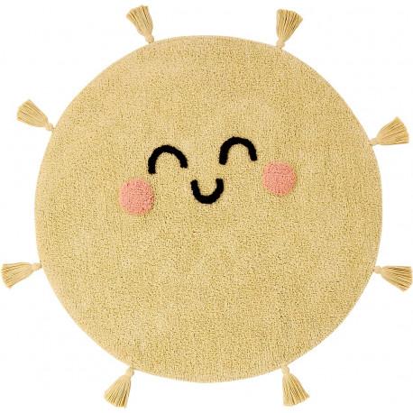 Tapis rond enfant jaune You're My Sunshine Lorena Canals