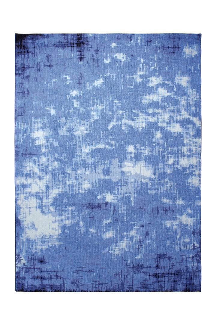 Tapis de salon moderne bleu Vintage Frame par Esprit Home