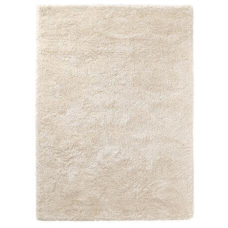 Tapis shaggy en polyester et laine crème Wool Glamour par Esprit Home