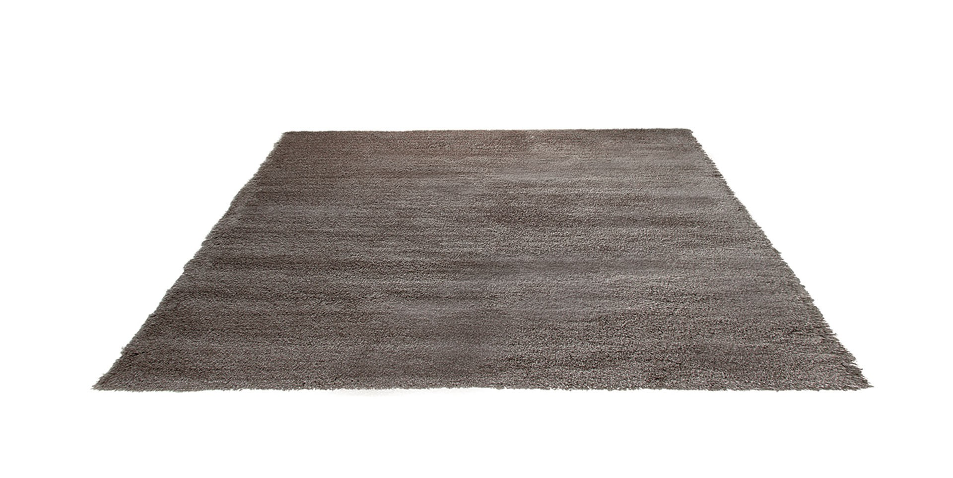 tapis shaggy en polyester et laine taupe wool glamour par. Black Bedroom Furniture Sets. Home Design Ideas