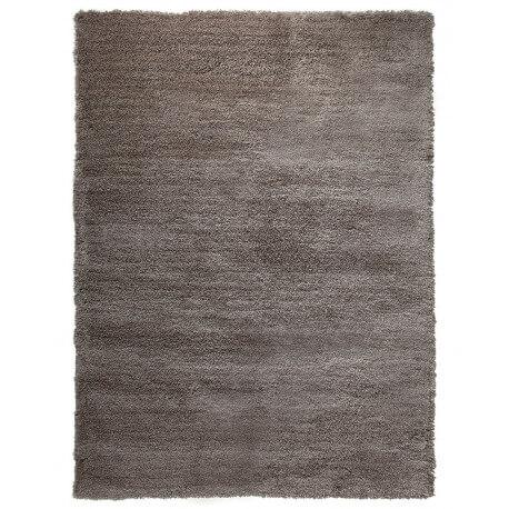 Tapis shaggy en polyester et laine taupe Wool Glamour par Esprit Home