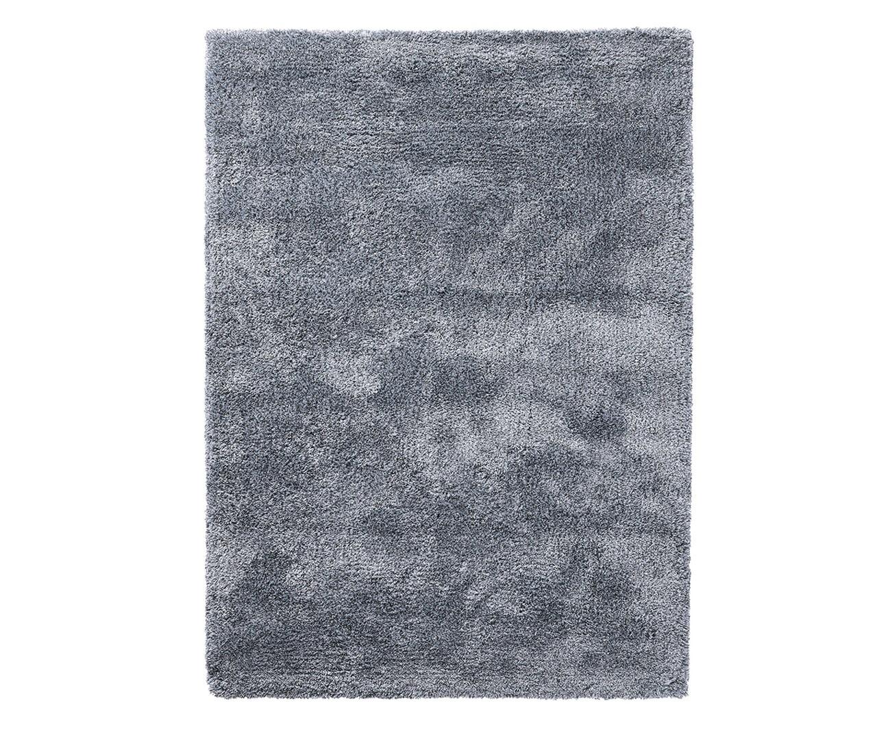 Tapis shaggy en polyester et laine gris Wool Glamour par Esprit Home