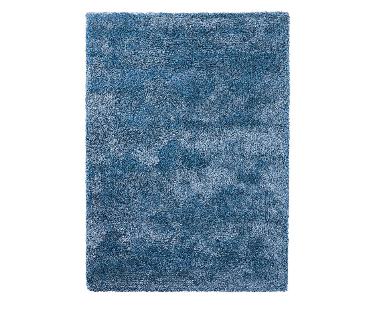 Tapis shaggy en polyester et laine bleu clair Wool Glamour par Esprit Home