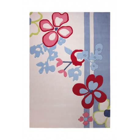 Tapis de chambre enfant blanc Ikebana par Esprit Home