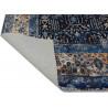 Tapis bleu vintage lavable en machine rayé Giovanni