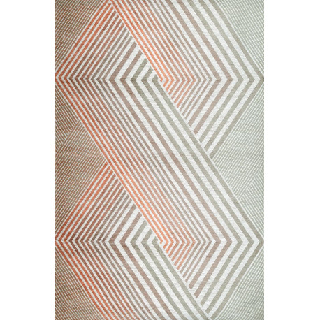 Tapis géométrique multicolore lavable en machine Carrara