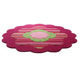 Tapis pour chambre de fille rose Flower Shapes par Esprit Home