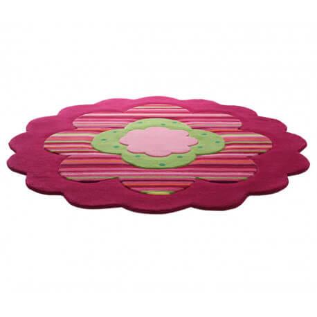 Tapis pour chambre de fille rose flower shapes par esprit home - Tapis rose pour chambre fille ...