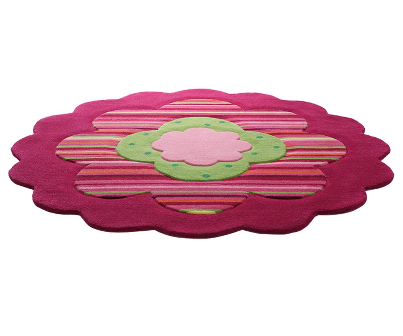 Tapis pour chambre de fille rose flower shapes par esprit home for Tapis pour chambre de fille