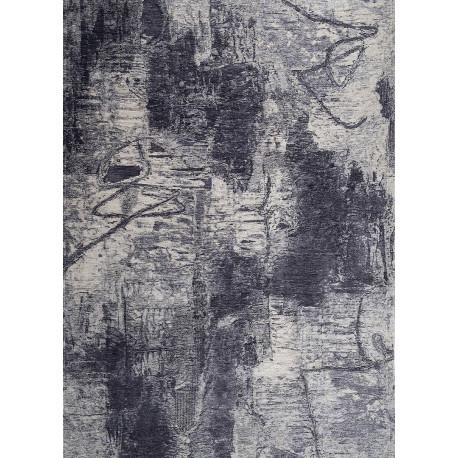 Tapis moderne gris lavable en machine rectangle Raguse