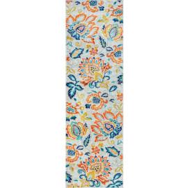 Tapis floral moderne rectangle Nazio