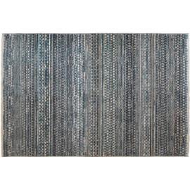 Tapis berbère avec franges bleu ethnique Coni