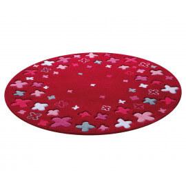 Tapis rond pour enfant rouge Bloom Field par Esprit Home