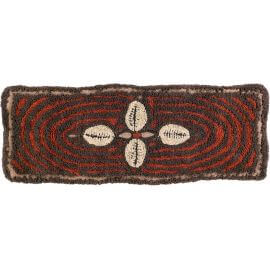Tapis en laine marron ethnique lavable en machine Bracelet