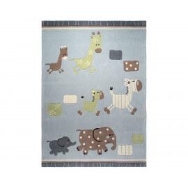 Tapis pour bébé bleu Lucky Zoo par Esprit Home