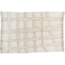 Tapis en laine lavable en machine ethnique pour salon Shuka
