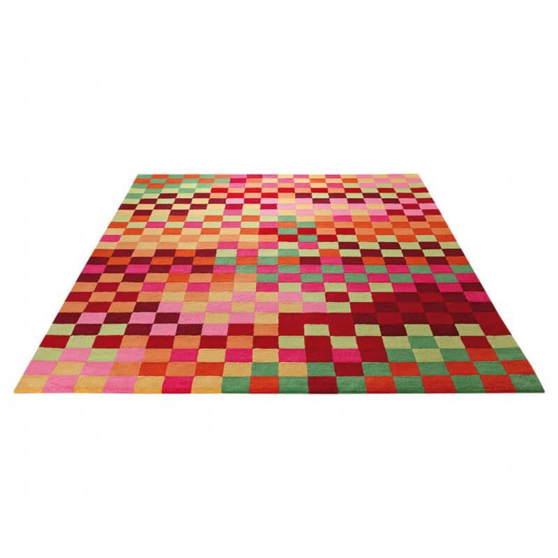 Tapis pour chambre d 39 enfant multicolore pixel par esprit home for Tapis chambre enfant