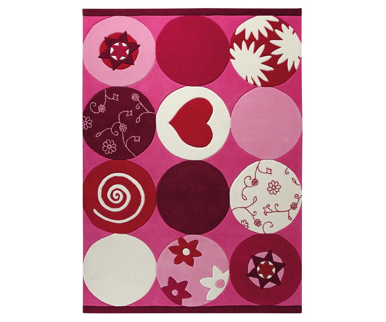 Tapis pour fille rose Pink Heart par Esprit Home