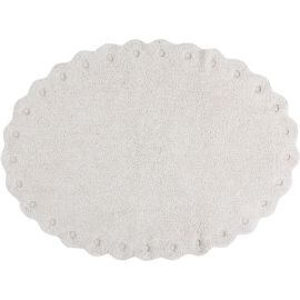 Tapis oval enfant lavable en machine en coton Pinecone