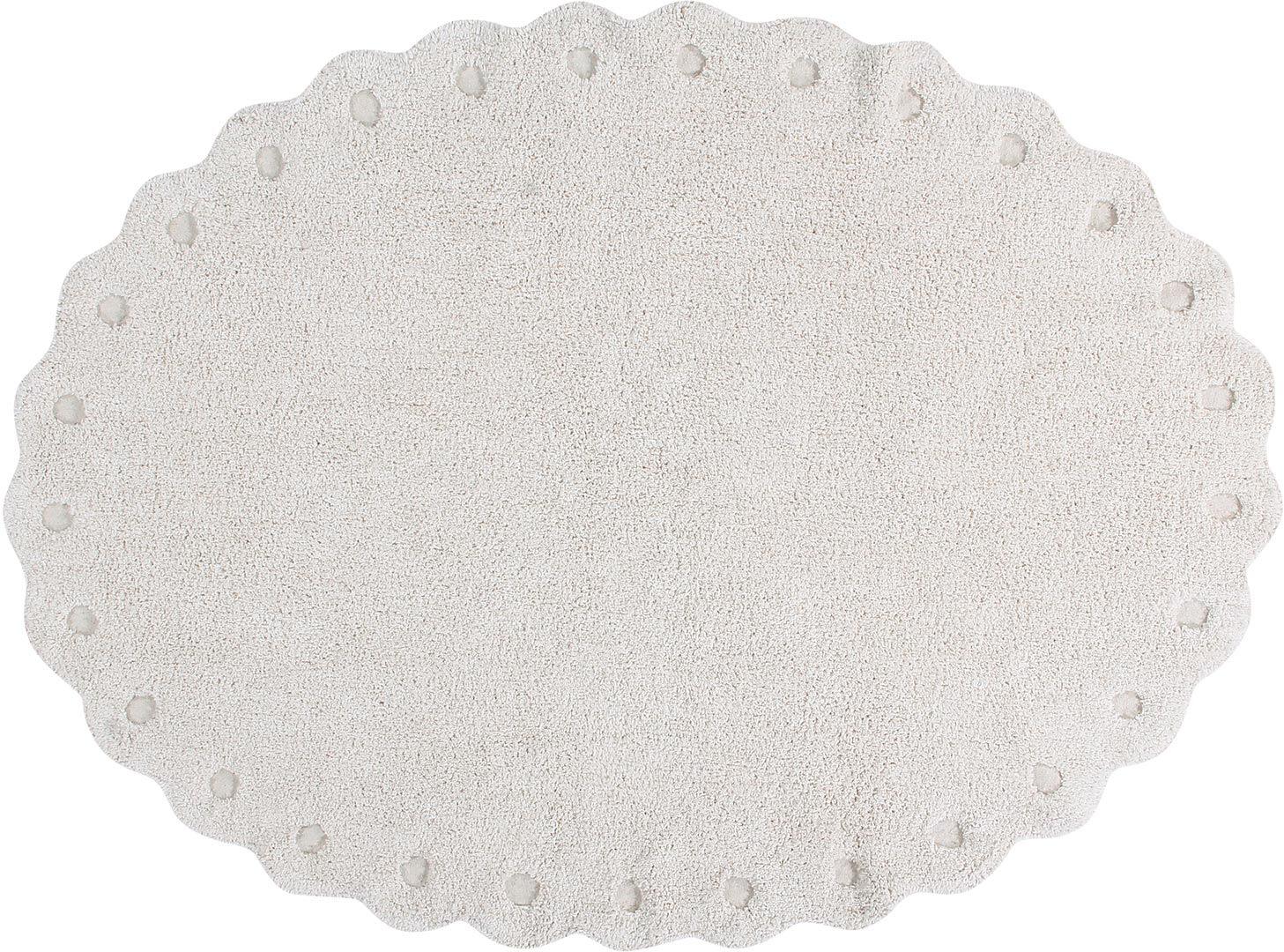 Tapis oval enfant lavable en machine en coton Pinecone