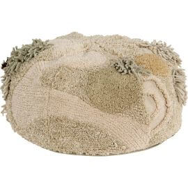 Pouf crème enfant en coton Mossy Rock