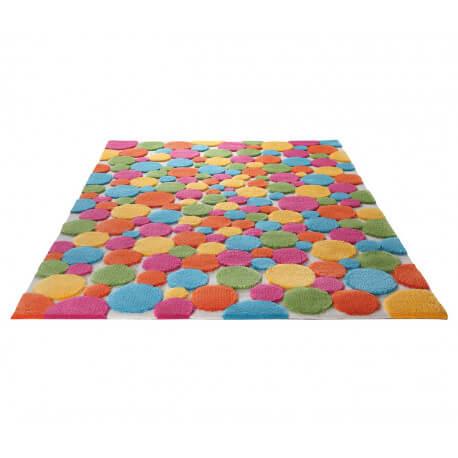 Tapis en acrylique multicolore Color Drops par Esprit Home