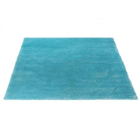 Tapis shaggy doux pour enfant turquoise soft glamour par esprit home - Tapis shaggy turquoise ...