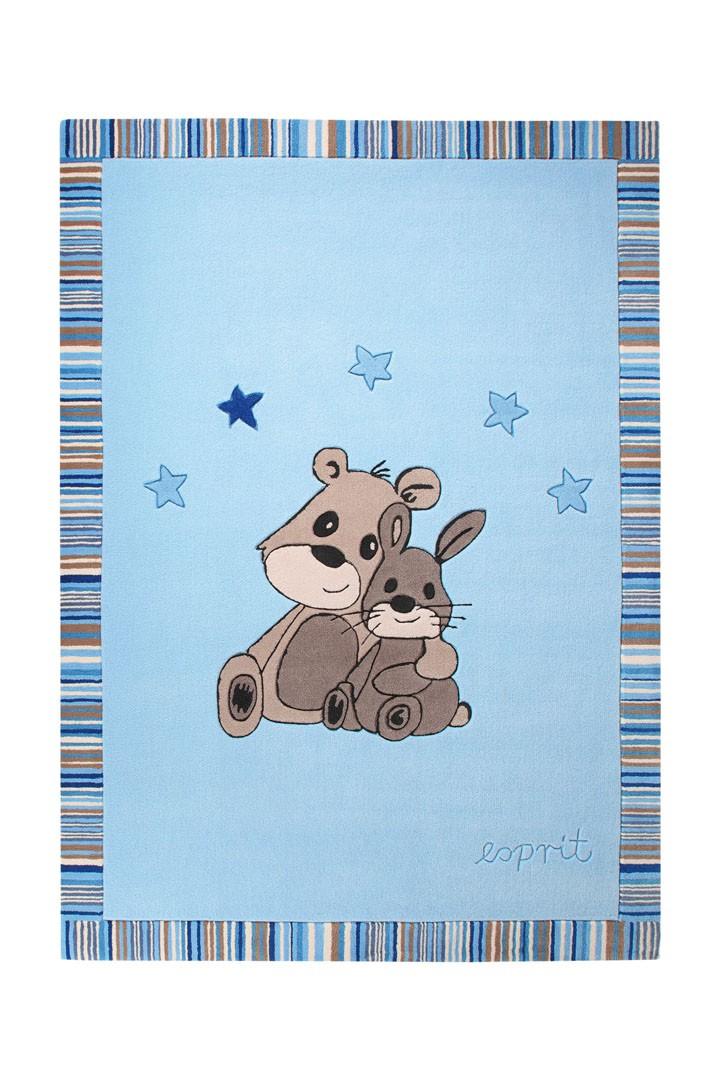 Tapis pour chambre de bébé bleu Little Best Friends par Esprit Home