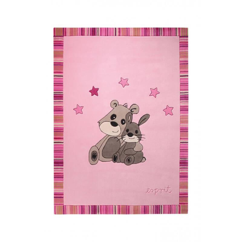 Tapis pour chambre de b b rose little best friends par - Tapis rose chambre bebe ...