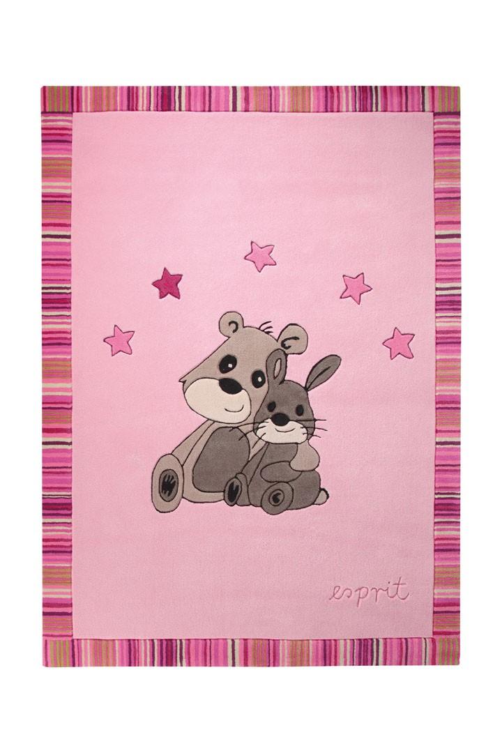Tapis pour chambre de bébé rose Little Best Friends par Esprit Home