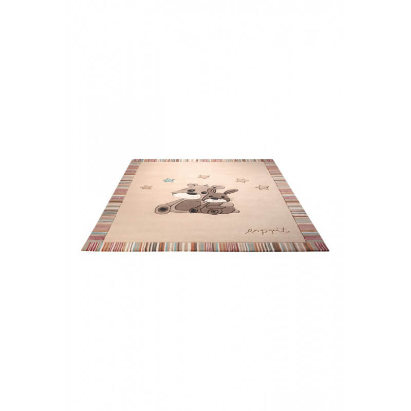 tapis pour chambre de b b beige little best friends par esprit home. Black Bedroom Furniture Sets. Home Design Ideas
