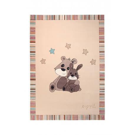 Tapis pour chambre de bébé beige Little Best Friends par Esprit Home