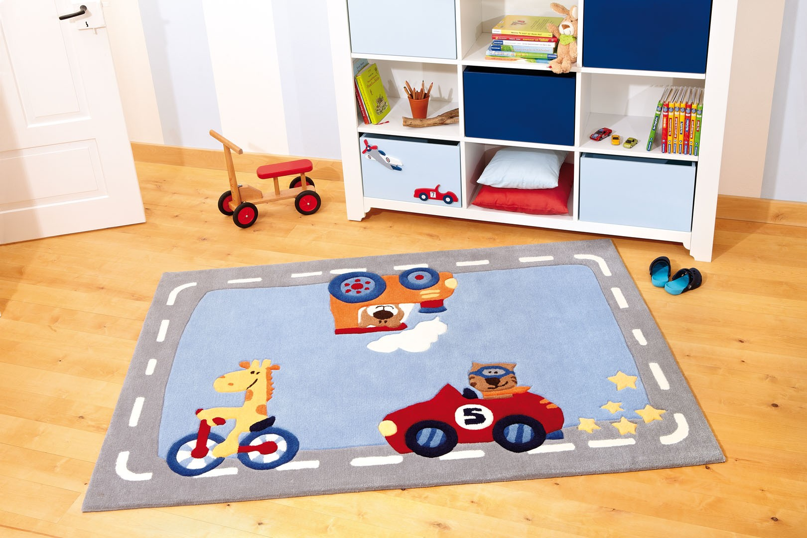 Tapis de chambre enfant happy street traffic 1 sigikid for Tapis chambre enfant