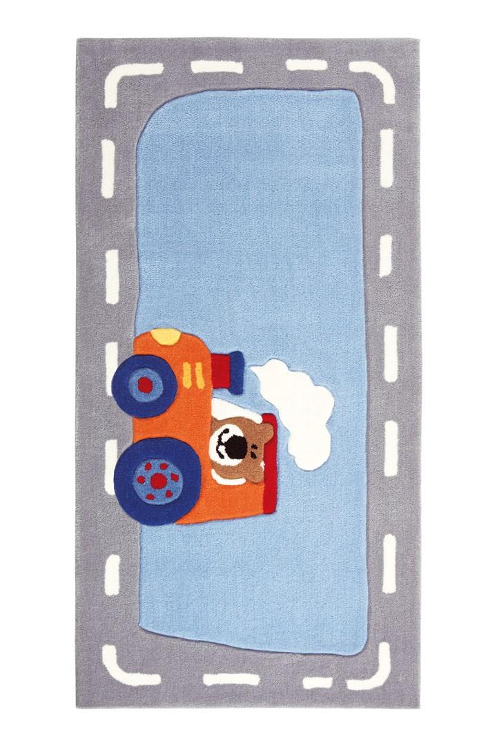 Tapis gris et bleu enfant Happy Street Traffic 2 Sigikid