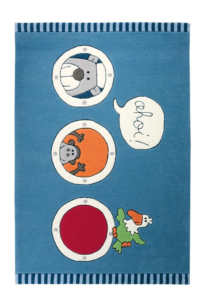 Tapis bleu pour enfant Olaf Laola Ahoi 1 Sigikid