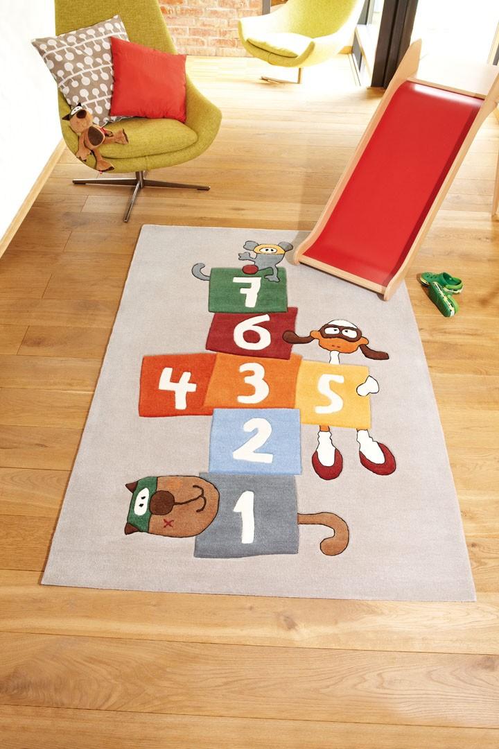 tapis gris pour chambre d 39 enfant bandidoleros jump 1 sigikid. Black Bedroom Furniture Sets. Home Design Ideas