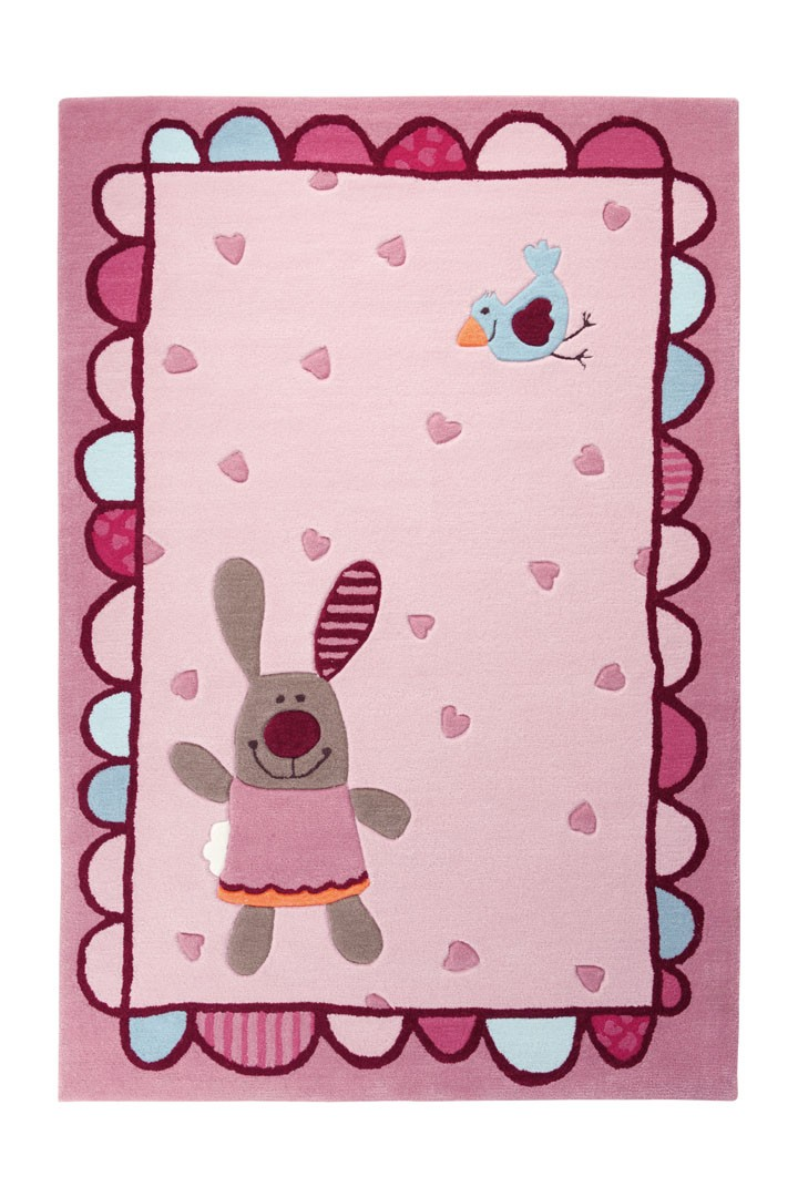 tapis de chambre pour fille 3 happy friends hearts 1 sigikid. Black Bedroom Furniture Sets. Home Design Ideas