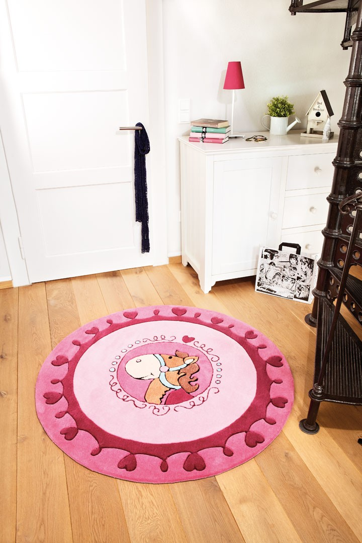 tapis rond pour enfant rose kali kalimba sigikid. Black Bedroom Furniture Sets. Home Design Ideas