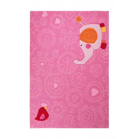 Tapis rose pour chambre de fille Happy Zoo Elephant 1 Sigikid