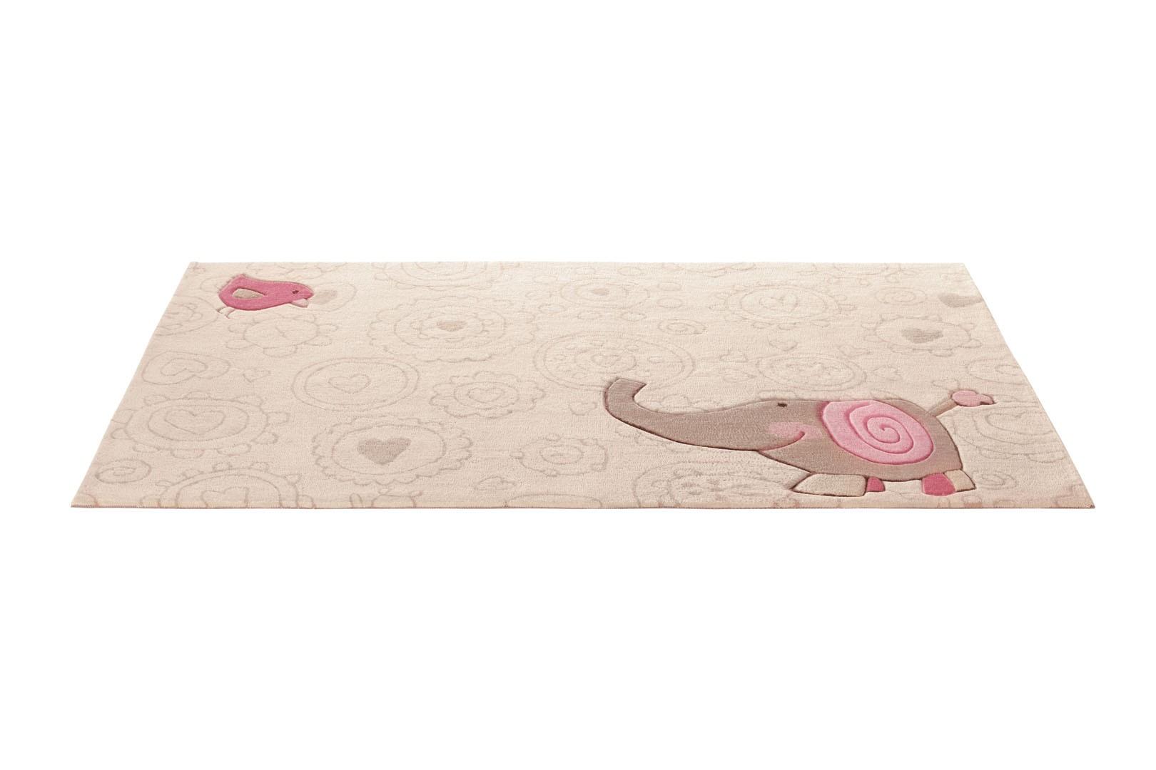 Tapis beige pour chambre d'enfant Happy Zoo Elephant 2 Sigikid