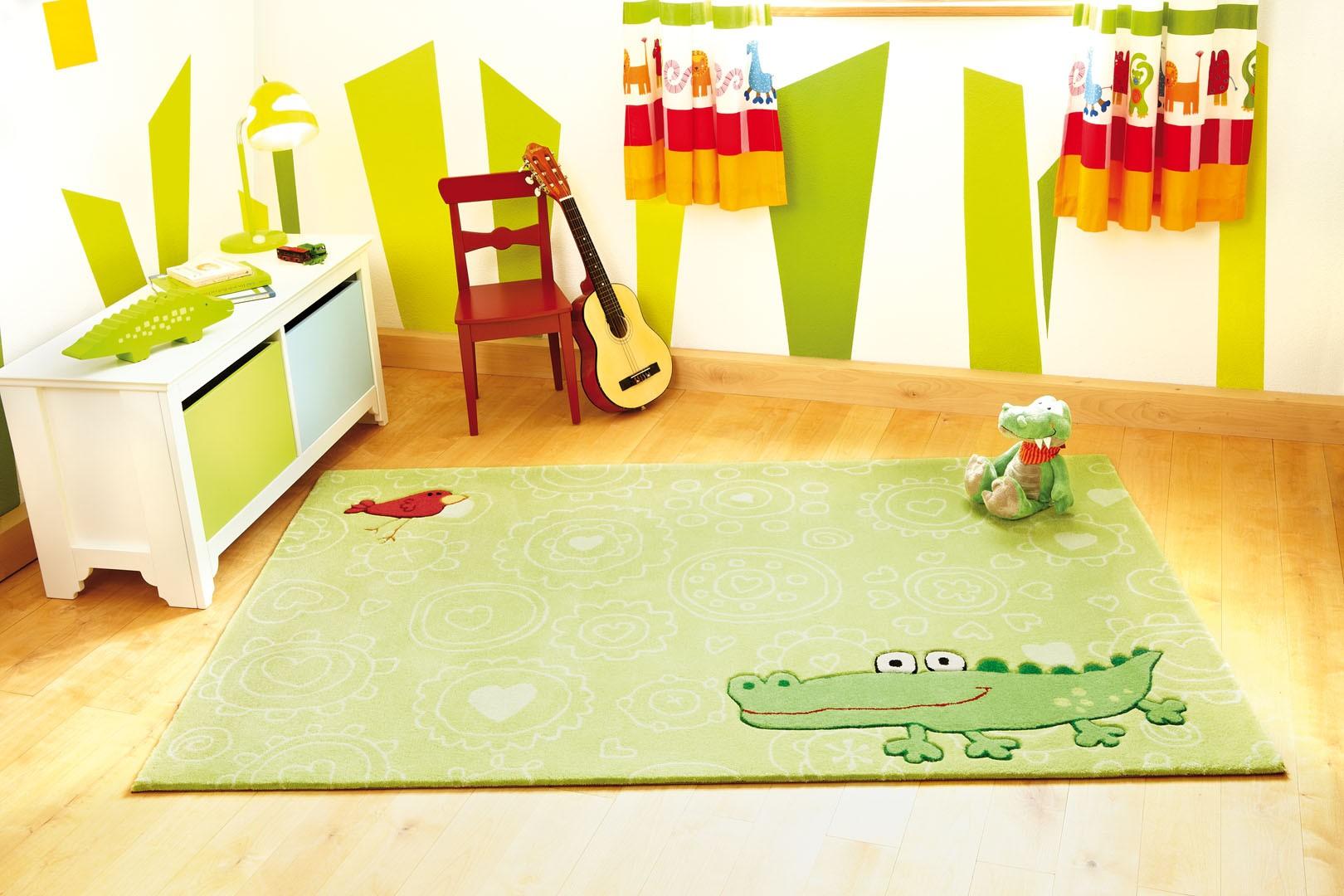 Chambre Chocolat Et Vert Anis tapis pour chambre enfant vert happy zoo crocodile 1 sigikid