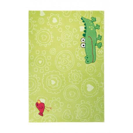 Tapis pour chambre enfant vert Happy Zoo Crocodile 1 Sigikid